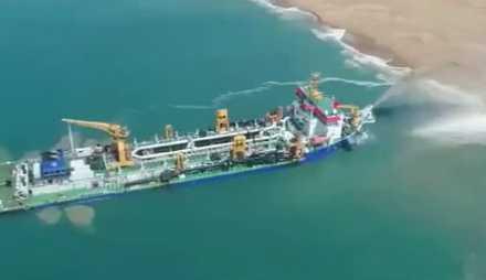 中国海洋神器问世!一小时挖7501立方米 老外不敢相信!