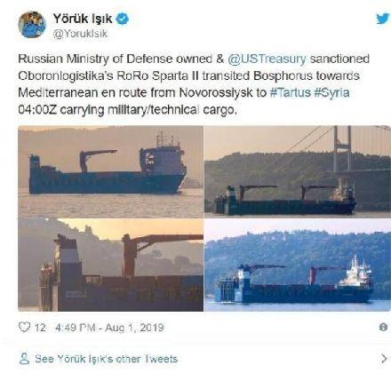 大行动!俄船只频繁前往叙利亚,航空炸弹堆积成山